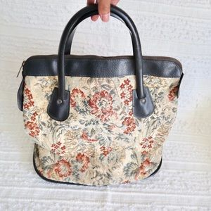 Vintage tapestry coats Clark's satchel bag